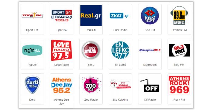 Les radios en Grèce