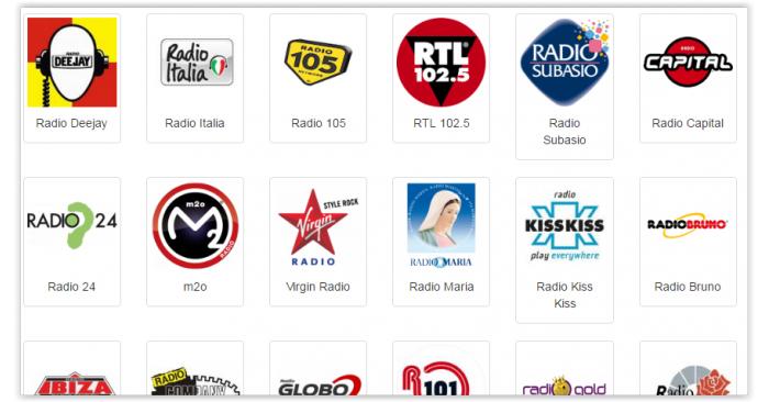 Les stations radio italiennes